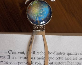 Book marker and tree of life cabochon