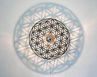 Walllamp, flower of Life, shadow lamp, ceiling lamp