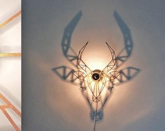 wall lamp, animal, gold, lamp design, Capricorn