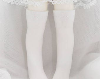 Plain Knee-High Socks for LATI Yellow