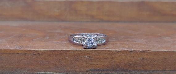 Vintage Engagement Ring .29ct Diamond Engagement R
