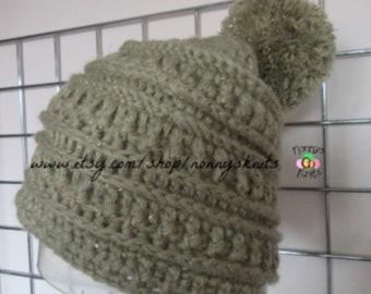 0c1ad24d283 Crochet Chunky Slouch Bobble Hat