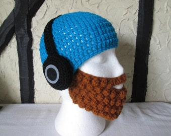 The Funky Hipster Hat with detachable beard. All sizes available! Made to Order only!
