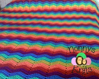 Double bed sized crochet rainbow throw/blanket/bedspread READY TO POST (custom orders also welcome)