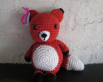 Plump crochet fox toy. made to order
