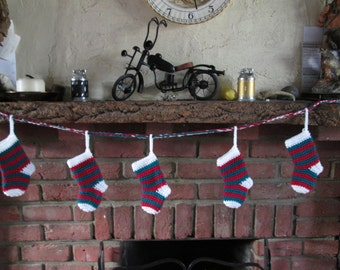 Christmas Stocking Bunting Made to Order Only!