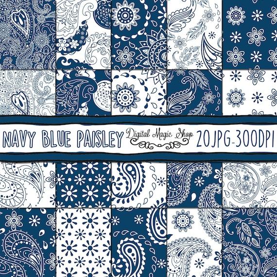 Blue Acquamarine Paisley Digital Paper Wedding Digital Paisley Craft Indian Scrapbook Paper with Blue Printable Scrapbook Patterns