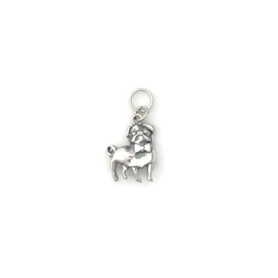 Sterling Silver Pug Charm Silver Pug Jewelry Silver Pug Etsy