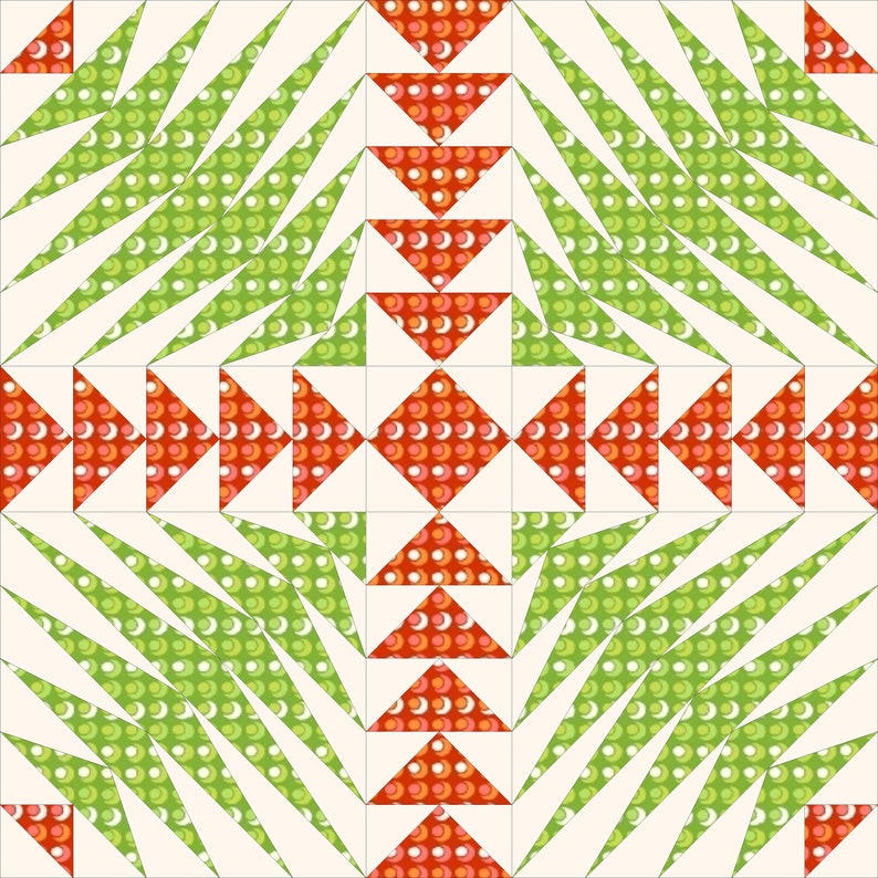 Greese Crossing Paper Pieced Quilt Pattern 12 inch and 18 inch