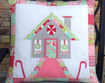 Vintage Candy Cottage Paper Pieced Quilt Block