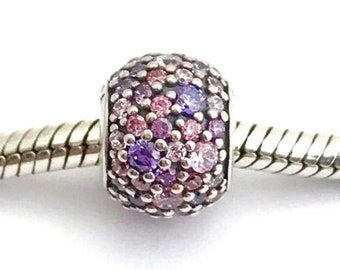 770783a8a Authentic Pandora Pave Lights Multicolored Charm #791261ACZMX Pre Loved  Condition