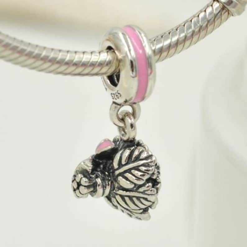 e81d3ace2 Authentic Pandora Silver CELEBRATION BOUQUET Pink Charm | Etsy