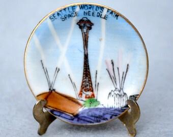 Seattle World's Fair Mini Souvenir Plate 1962 Made in Japan Vintage
