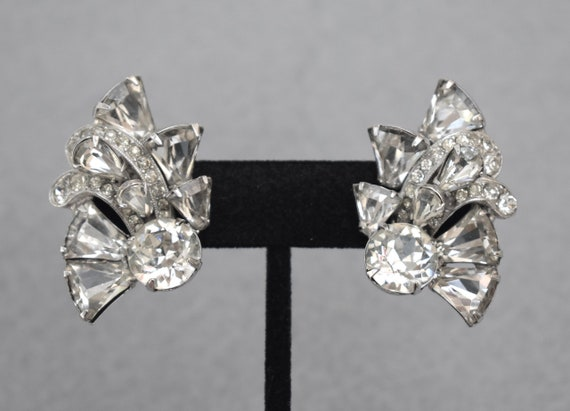 Eisenberg Designer Rhinestone Earrings Vintage