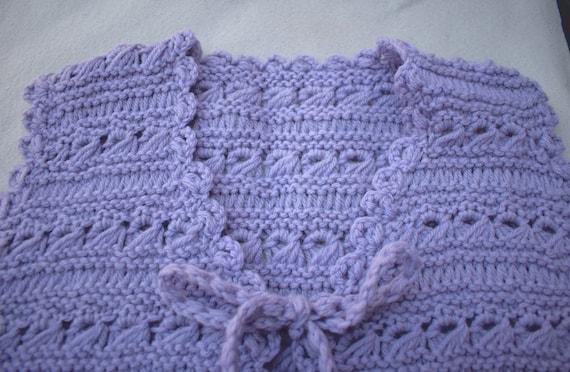 Hand Crochet Sweater Vest Size Small Medium Vinta… - image 5