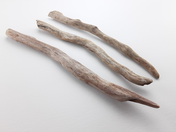"""3 Curvy, Natural Driftwood Branches, 11-14"""" Long"""