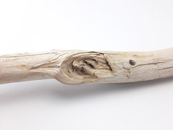 """Long Driftwood Branch With Gnarly Knot, 51"""" Long"""