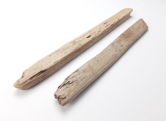 "2 Small, Narrow Driftwood Sign Blanks, 10.25 - 11.625"" Long"