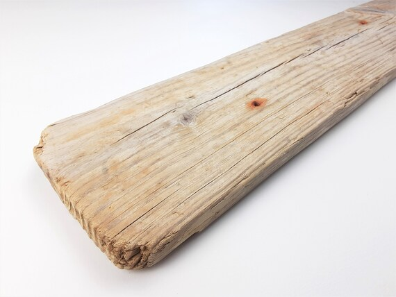 """Large, Rustic Driftwood Plank For Shelf Or Sign-Making, 47.5"""" Long"""