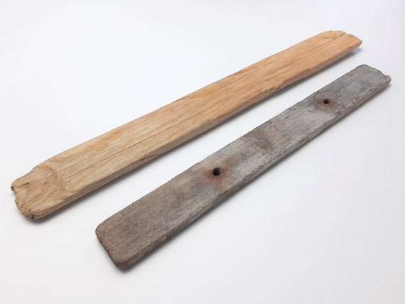 "2 Small, Narrow Driftwood Sign Blanks, 14-17.5"" Long"