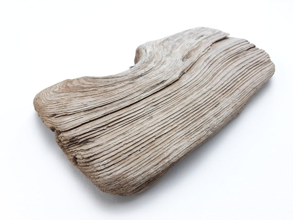 """Small, Grooved Driftwood Board, 7 3/8"""" Long"""