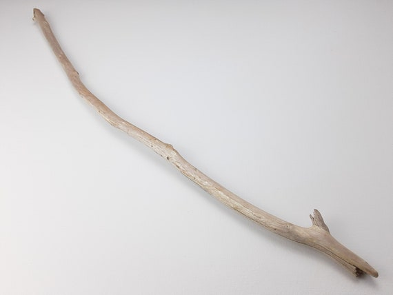 "Narrow, Curved Driftwood Branch With Nub, 29"" Long"