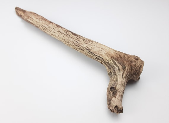 "Angled, Textured Driftwood Branch, 15.25"" Long"