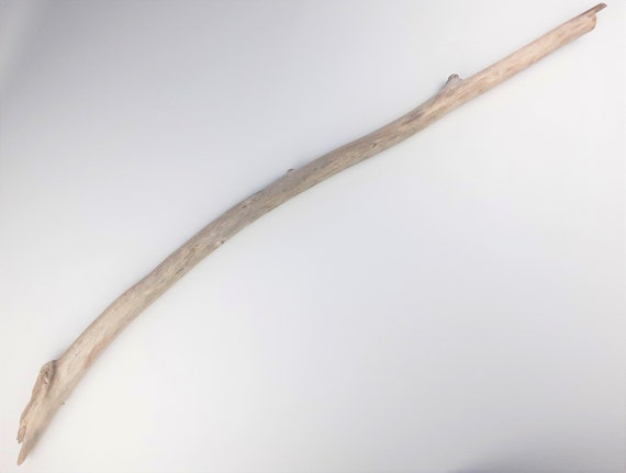 """Long, Thick Driftwood Branch With Slight Curve, 45"""" Long"""
