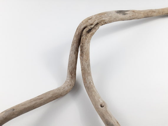 """Large Wavy """"Y"""" Driftwood Branch For Wall Hanging Or Tabletop, 34"""" Long"""
