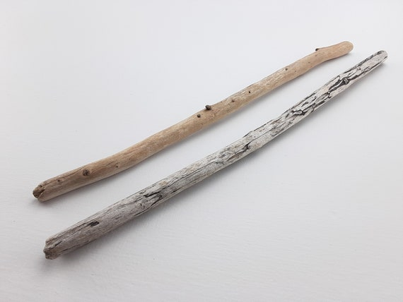 """2 Straight, Narrow Driftwood Branches, 12"""" Long"""