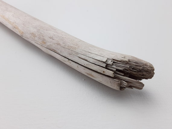 """Very Smooth Driftwood Branch With Splintered End, 34 1/2"""" Long"""