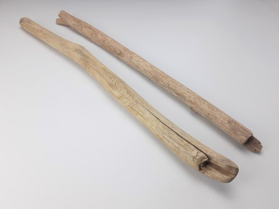 """2 Straight Driftwood Branches, 22-23.5"""" Long"""