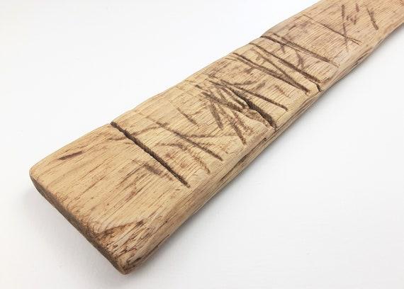 "Rustic Driftwood Board Wall Art, 36.5"" Long"