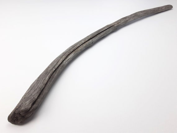 "Long, Curved Dark Wood Driftwood Branch, 31 1/2"" Long"