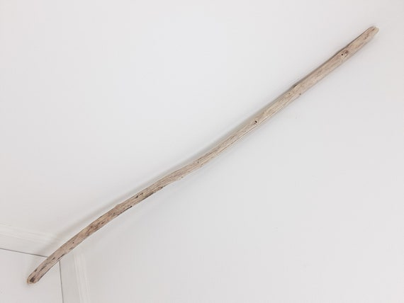 """Slightly Curved Driftwood Branch With Mottled Colors, 37.25"""" Long"""