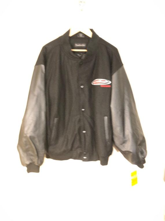 DUNBROOKE Letterman Wool Leather Varsity Jacket L