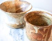 Set of 2 Adorable Vintage Desert Spun Pottery Planters (Sold Separately)