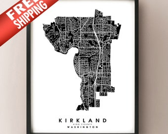 Kirkland, WA - City Limits Map Print