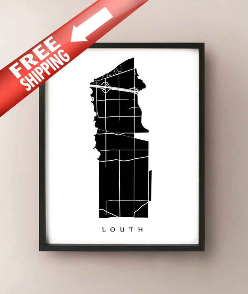 St Louth Map Catharines ON Neighbourhood Art Print