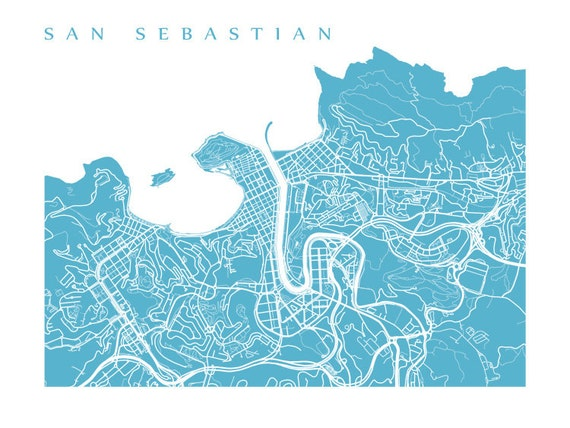 San Sebastian Map - Donostia, Basque County Spain Art Print on pamplona spain map, spain and egypt map, seville spain map, santander spain map, san sebastian old town map, zaragoza spain map, toledo spain map, st. augustine beach map, valencia spain map, san sebastian puerto rico map, malaga spain map, san sebastian mexico map, paris france map, cordoba spain map, segovia spain map, barcelona map, madrid spain map, alicante spain map, marbella spain map, bilbao spain map,