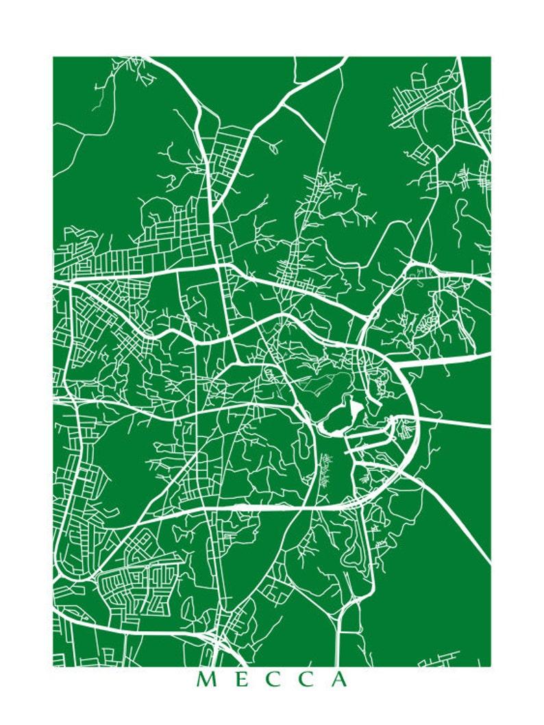 Mecca Map | Etsy