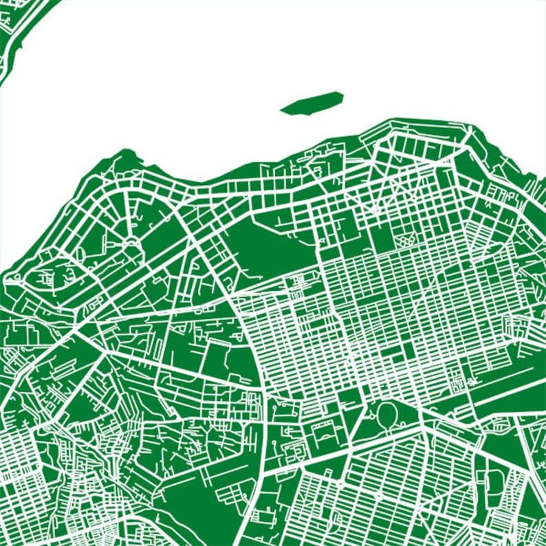 Kinshasa Map Print Democratic Republic of the Congo