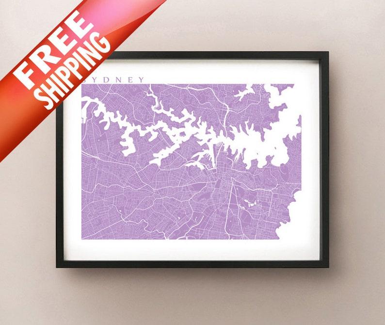 Free Map Of Australia To Print.Sydney Map Print Australia Poster