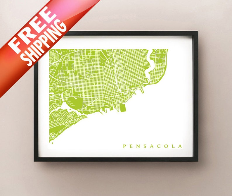 Pensacola Map Print - Downtown Pensacola, Florida Poster on freeport map, downtown pensacola florida, north hill pensacola map, brownsville map, osceola map, pensacola beach map, pensacola bay map, milton map, university of west florida map, downtown pensacola shopping, pensacola florida map, holley by the sea map, east hill pensacola map, old florida village map, i-10 map, escambia county map, navarre map, beaches map, pensacola street map, santa rosa county map,