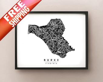 Burke, VA - City Limits Map Print