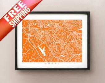 Burke, VA Map Print - Virginia Poster