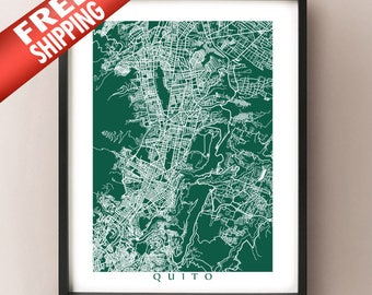 Quito Map Print - Ecuador Poster