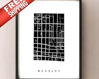 Beasley Map - Hamilton Neighbourhood Art Print