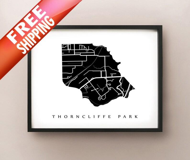 ON Neighbourhood Art Print Thorncliffe Park Map Toronto East York