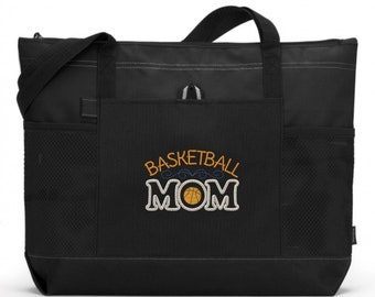 6868ea1d780 Basketball Tote Bag  Embroidered Basketball Mom Tote Bag  Basketball Mom  Bag  Basketball Mom Tote Bag  Embroidered Basketball Mom Bag